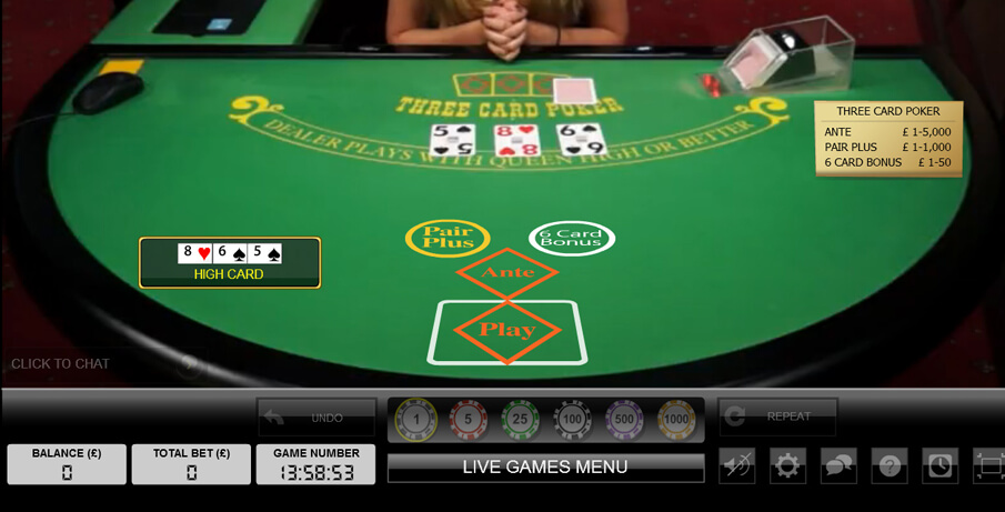 3 card poker game the best online game