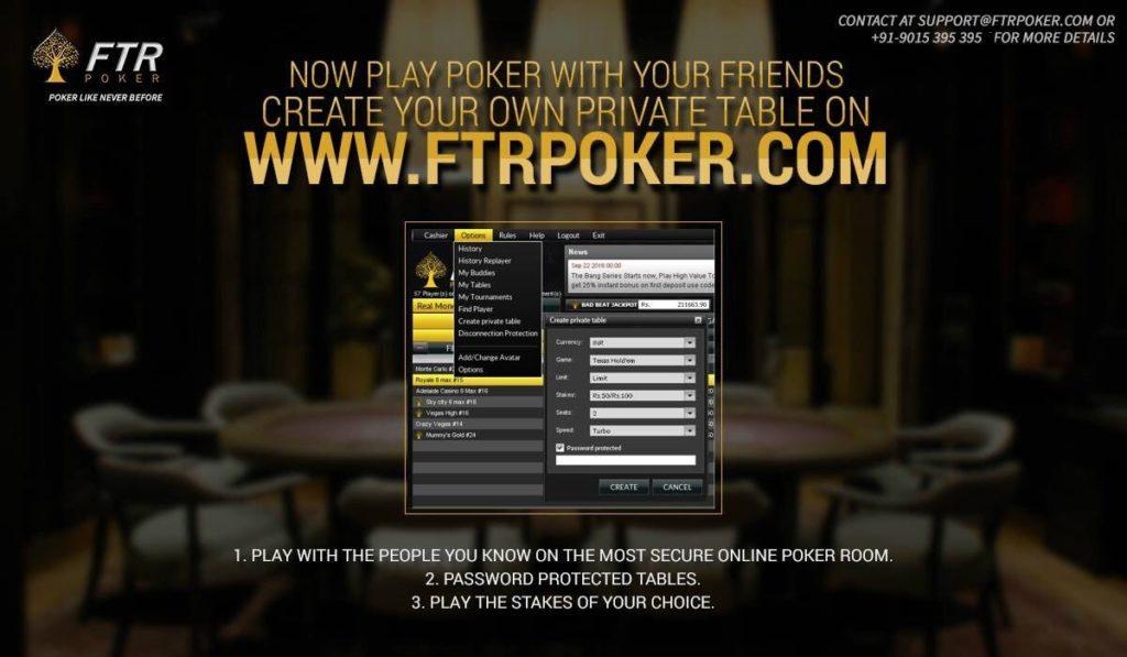 FTR poker site